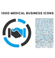 Handshake Diagram Icon with 1000 Medical Business vector image