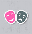 Happy and sad theatrical masks vector image vector image
