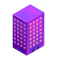 hotel building icon isometric style vector image