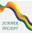 Inscription summer holiday Tape on a white vector image vector image