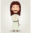 Jesus christ pray design isolated vector image