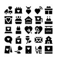 Love and Romance Icons 2 vector image vector image