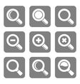 Magnifier Glass and Zoom Icons set vector image vector image
