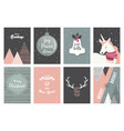 Merry christmas cards and icons