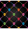 Multicolor seamless pattern with skulls vector image vector image