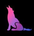 neon animal symbol vector image