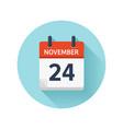 november 24 flat daily calendar icon date vector image vector image
