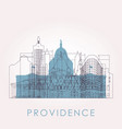 outline providence skyline with landmarks vector image vector image
