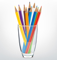 Pencils glass vector image vector image