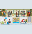 people in university horizontal banners vector image vector image