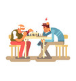 people play chess game vector image vector image
