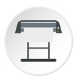 Platen for printing machines icon flat style vector image vector image
