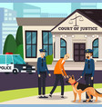 policemen and suspected orthogonal composition vector image vector image