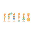 pregnant women activity set expectant mother vector image