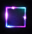 realistic 3d square neon sign for decoration flyer vector image vector image