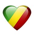 Republic of the Congo flag button vector image