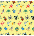 robot pattern vector image