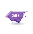 sale isolated trendy geometric label vector image vector image