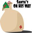 Santas On Way vector image vector image