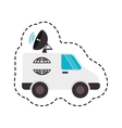 satellitte van vehicle icon vector image
