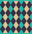 seamless argyle plaid blue pattern diamond check vector image vector image