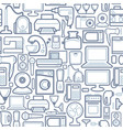 seamless pattern of outline home appliances icons vector image vector image