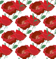 Seamless poppy pattern vector image vector image