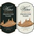 set wine labels with european rural landscape vector image vector image