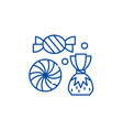sweet shop line icon concept sweet shop flat vector image vector image