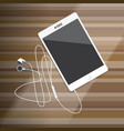 tablet and smartphone with earphone vector image vector image
