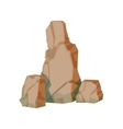 Tall Pile Of Brown Rocks Natural Landscape Design vector image vector image