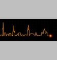 Tallinn light streak skyline