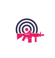 target and rifle logo vector image vector image