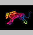 tiger cartoon graphic vector image vector image