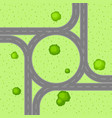 top view of road junction vector image vector image