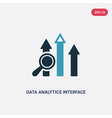 two color data analytics interface icon from user vector image vector image