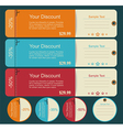 Vintage discounts template set vector image vector image