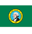 washington flag vector image vector image