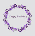 wedding birthday invitation card with flower vector image vector image