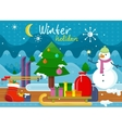 Winter Holidays Concept Design vector image