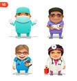 medical professions set vector image