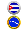 button as a symbol CUBA vector image