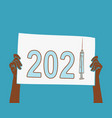 2021 year mass vaccination world s vector image