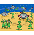 aliens characters cartoon vector image vector image