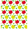 Apples seamless texture vector image vector image