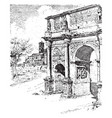 arch constantine situated between the vector image vector image