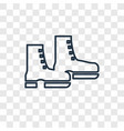 boot shoes concept linear icon isolated on vector image