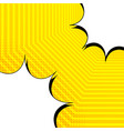 bright comic confrontation concept vector image vector image