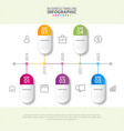 business infographics design elements template vector image vector image