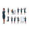 business woman character afro-american office vector image vector image